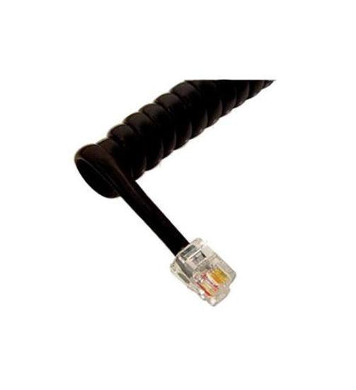 Picture of GCHA444006-FFB / 6' FLAT BK Handset Cord ICC-ICHC406FFB