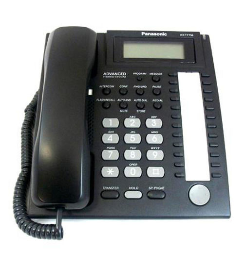 Picture of 24 Button Speakerphone 3 Line LCD Black KX-T7736-B