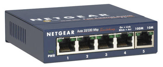 Picture of Netgear FS105NA - Prosafe 5 port 10/100 Desktop Switch