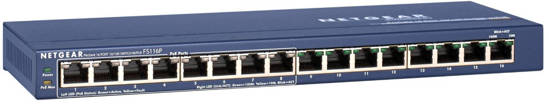 Picture of Netgear FS116PNA - 16 Port 10/100 Switch w/8 POE
