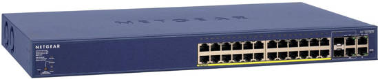 Picture of Netgear FS728TP-100NAS - 24 Port 10/100 Switch with 24 Port POE