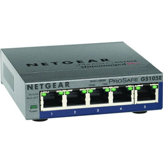 Picture of Netgear GS105E-200NAS - NETGEAR 5 Port Gigabit Smart Switch