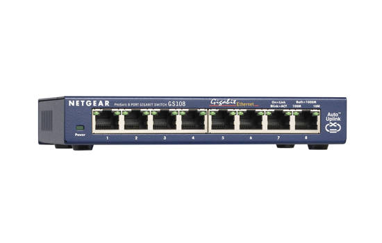 Picture of Netgear GS108-400NAS - ProSafe 8 Port Gigabit Switch