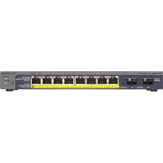 Picture of Netgear GS110TP-300NAS - 8-port Gigabit PoE Smart Switch