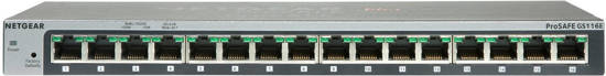 Picture of Netgear GS116E-200NAS - 16 Port Gigabit Ethernet Switch
