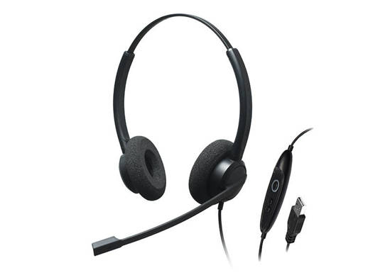 Picture of ADDASOUND CRYSTAL-SR2732 - Dual Ear, Stereo, Noise Cancelling USB