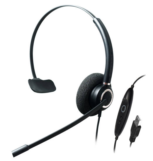 Picture of ADDASOUND CRYSTAL-SR2831RG - Single Ear,Advanced Noise Cancelling USB