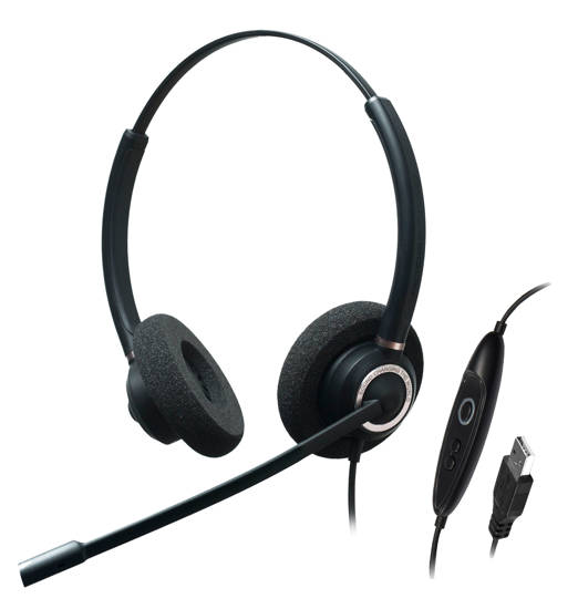 Picture of ADDASOUND CRYSTAL-SR2832RG - Dual Ear,Stereo,Adv Noise Cancel USB