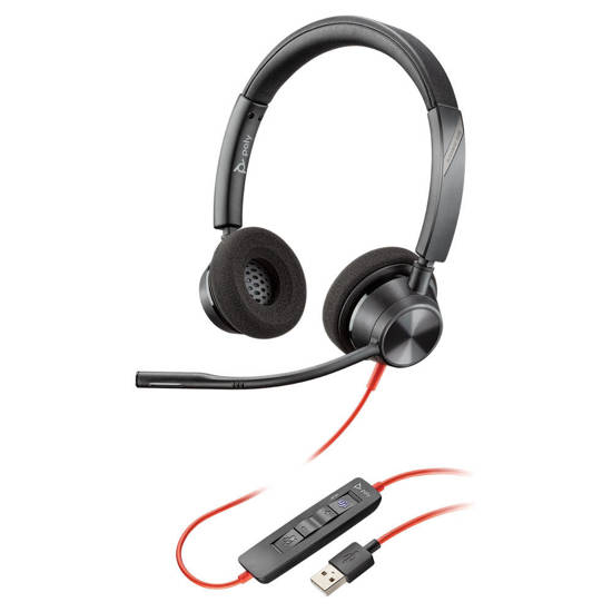 Picture of Plantronics 213934-01 - BLACKWIRE 3320 USB-A DUAL EAR