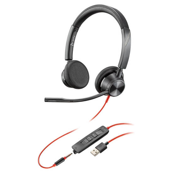 Picture of Plantronics 213938-01 - BLACKWIRE 3325 USB-A DUAL EAR
