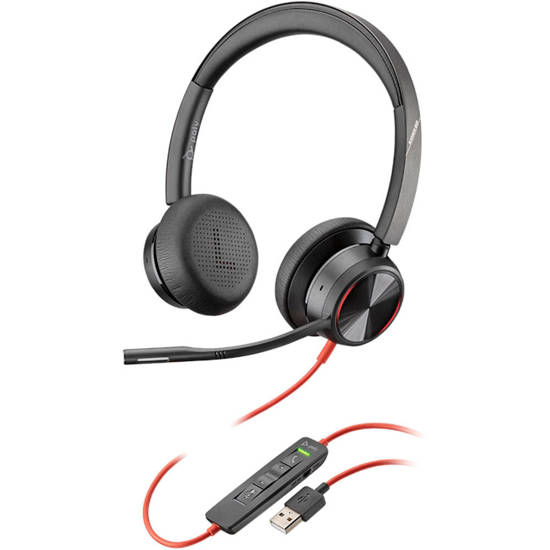 Picture of Plantronics 214406-01 - BLACKWIRE 8225, USB-A DUAL EAR