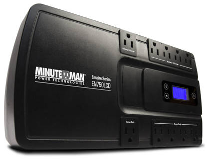 Picture of MINUTEMAN UPS EN750LCD - ENSPIRE 750VA STAND-BY UPS WITH LCD