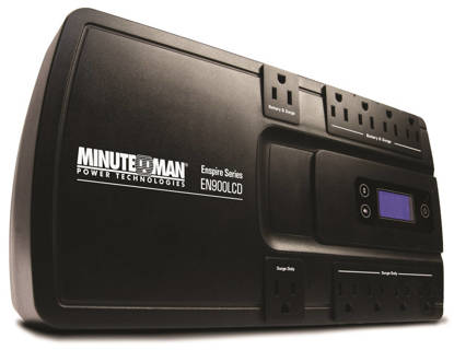 Picture of MINUTEMAN UPS EN900LCD - ENSPIRE 900VA STAND-BY UPS WITH LCD