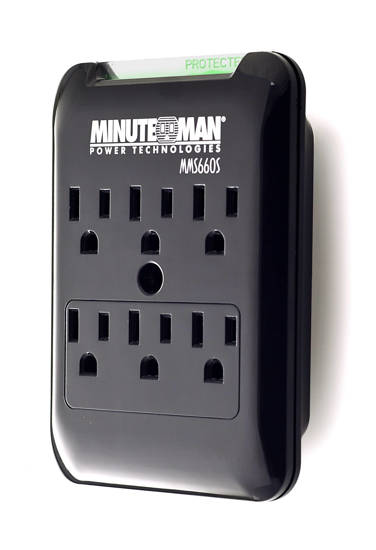 Picture of MINUTEMAN UPS MMS660S - 6 Outlet Wall Tap Surge Suppressor, 540J