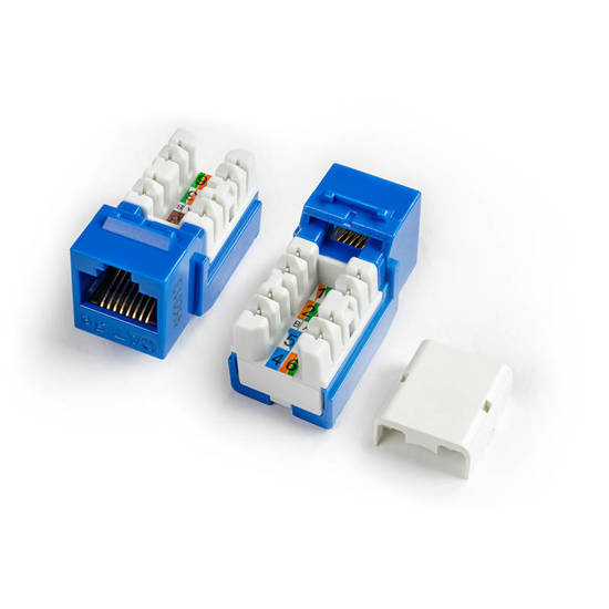 Picture of HYPERLINE HY-CAT5-JACK-BK - KJNE-8P8C-C5e-90-BK CAT5 JACK BLACK