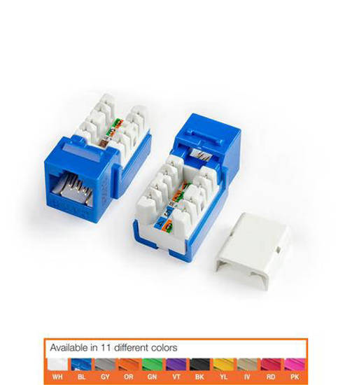 Picture of HYPERLINE HY-CAT6-JACK-BL - KJNE-8P8C-C6-90-BL CAT6 JACK BLUE