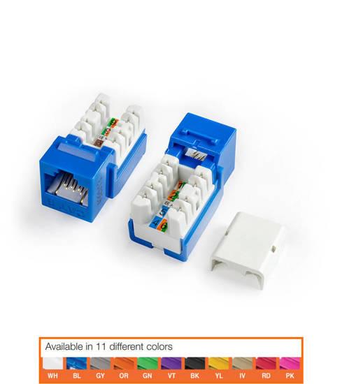 Picture of HYPERLINE HY-CAT6-JACKPACK-BL-25 - KJNE-8P8C-C6-90-BL-25 JACK PACK BLUE