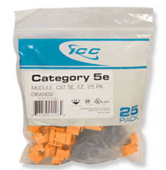 Picture of ICC CAT5JKPK-OR - IC107E5COR - 25PK Cat5 Jack - Orange