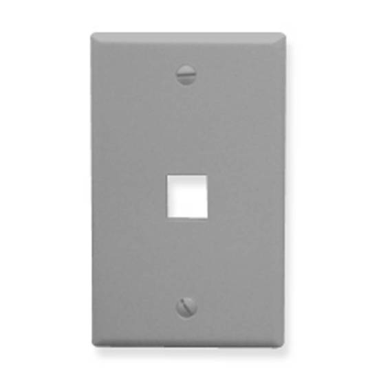 Picture of ICC FACE-1-GR - IC107F01GY - 1Port Face - Gray