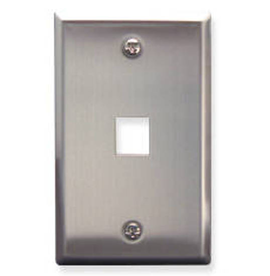 Picture of ICC FACE-1-SS - IC107SF1SS- 1Port Face - Stainless Steel