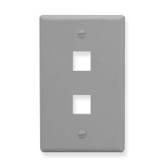 Picture of ICC FACE-2-GR - IC107F02GY - 2 Port Face - Gray