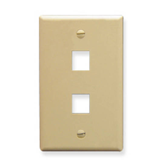 Picture of ICC FACE-2-IV - IC107F02IV - 2Port Face Ivory