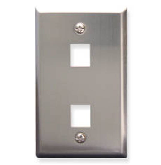 Picture of ICC FACE-2-SS - IC107SF2SS - 2Port Face - Stainless