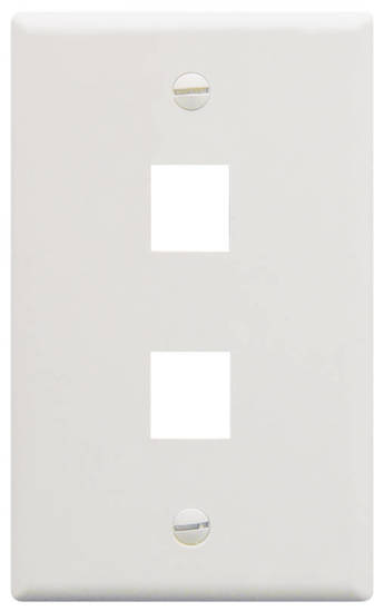 Picture of ICC FACE-2-WH - IC107F02WH - 2Port Face White