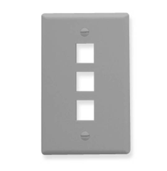 Picture of ICC FACE-3-GR - IC107F03GY - 3Port Face - Gray