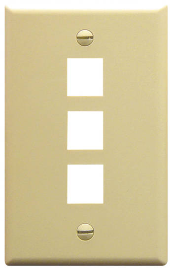 Picture of ICC FACE-3-IV - IC107F03IV - 3Port Face Ivory