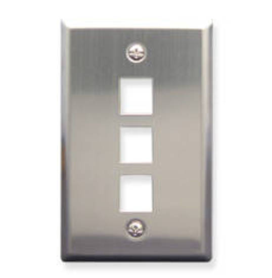 Picture of ICC FACE-3-SS - IC107SF3SS - 3Port Face Stainless Steel