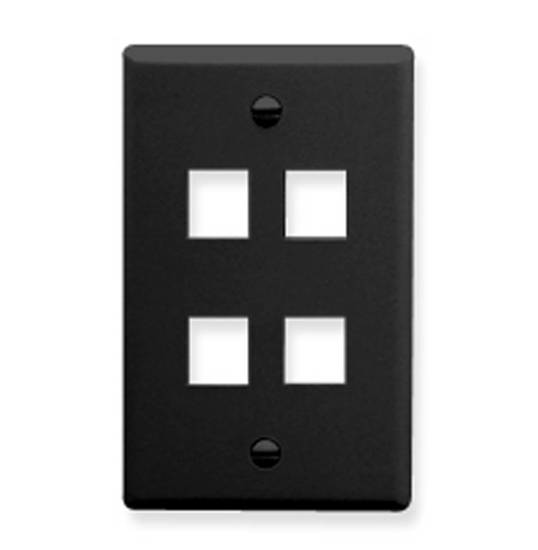 Picture of ICC FACE-4-BK - IC107F04BK 4 Port Face Black