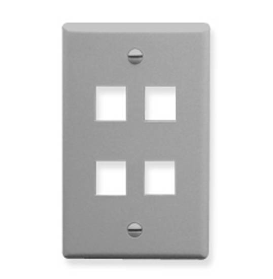 Picture of ICC FACE-4-GR - IC107F04GY - 4Port Face - Gray