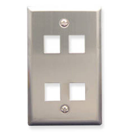 Picture of ICC FACE-4-SS - IC107SF4SS - 4Port Face Stainless