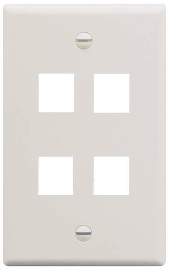 Picture of ICC FACE-4-WH - IC107F04WH - 4Port Face White