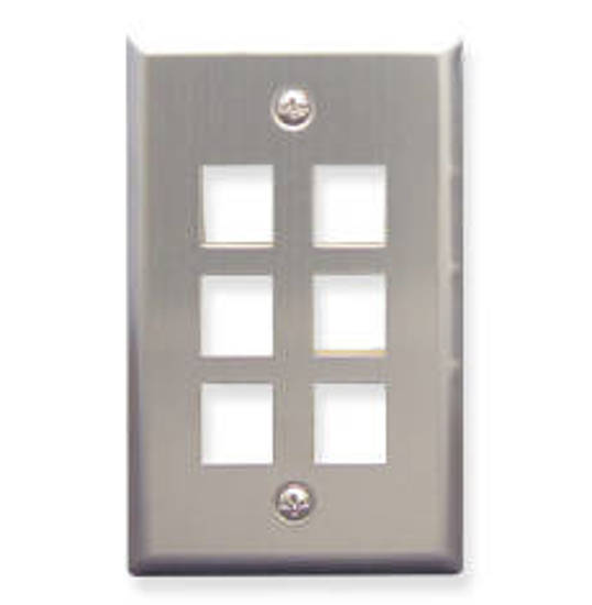 Picture of ICC FACE-6-SS - IC107SF6SS 6 Port Face Stainless Steel