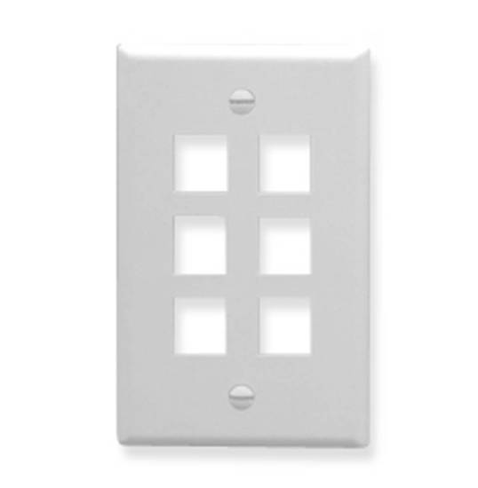 Picture of ICC FACE-6-WH - IC107F06WH- 6Port Face White