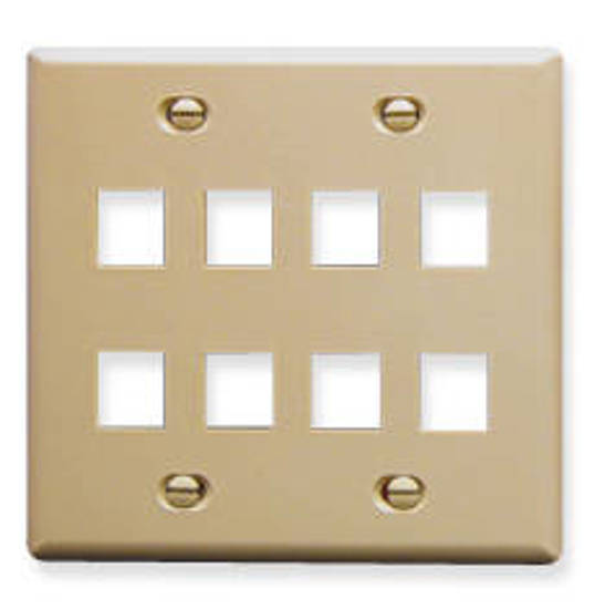 Picture of ICC FACE-8-IV - IC107FD8IV - 8 Port Face Ivory, 2-Gang