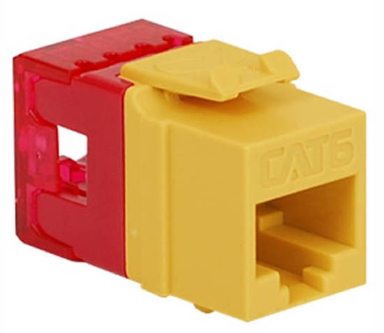 Picture of ICC IC1078F6YL - MODULE, CAT 6, HD, YELLOW