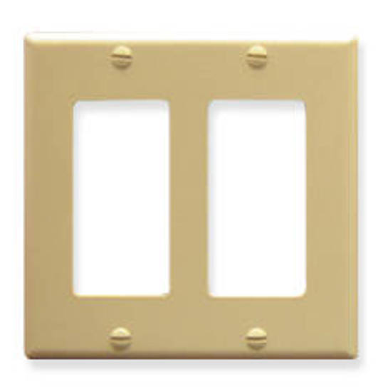 Picture of ICC IC107DFDIV - FACEPLATE, DECOREX, 2-GANG, IVORY