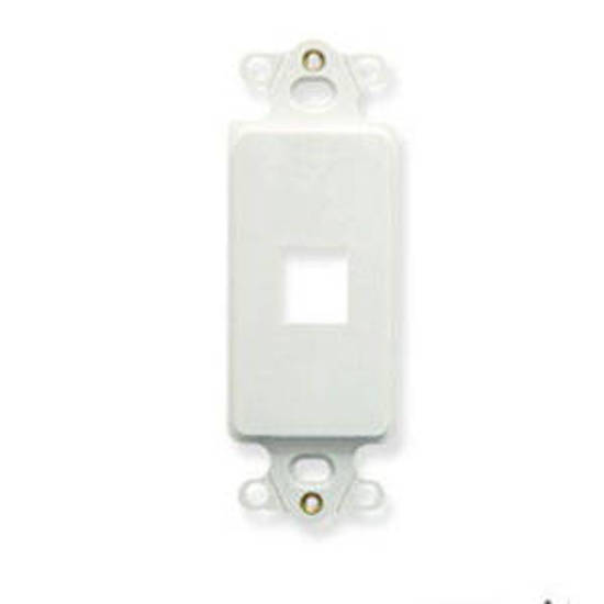 Picture of ICC IC107DI1WH - INSERT, DECOREX, 1-PORT, WH