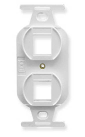 Picture of ICC IC107DPIWH - INSERT, ELECTRICAL, 2-PORT, WHITE