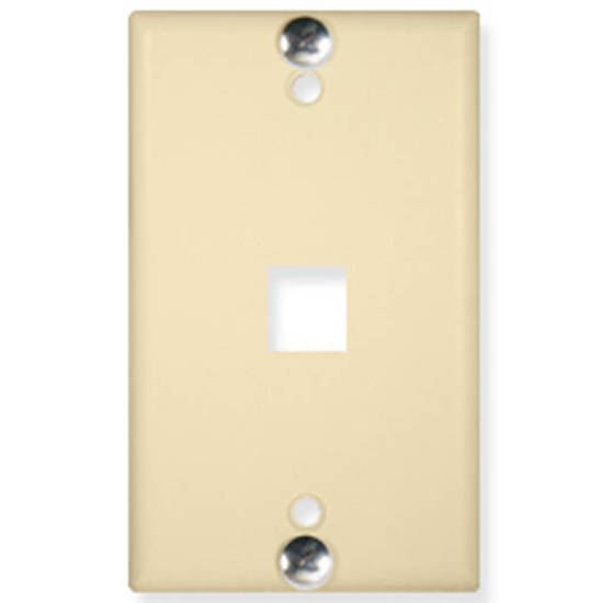 Picture of ICC IC107FFWIV - WALL PLATE, PHONE, FLUSH, 1-PORT, IVORY