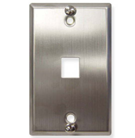 Picture of ICC IC107FFWSS - WALL PLATE, PHONE, FLUSH, 1-PORT, SS