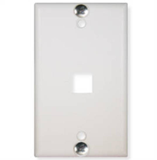 Picture of ICC IC107FFWWH - WALL PLATE, PHONE, FLUSH, 1-PORT, WHITE
