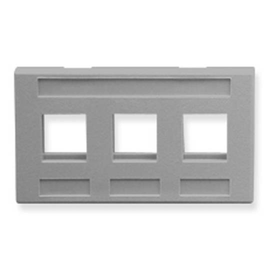 Picture of ICC IC107FM3GY - FACEPLATE, FURNITURE, 3-PORT, GRAY