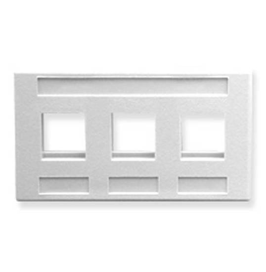 Picture of ICC IC107FM3WH - FACEPLATE, FURNITURE, 3-PORT, WHITE