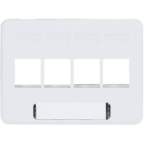 Picture of ICC IC107FN4WH - FACEPLATE, FURNITURE, NEMA, 4-PORT WHITE