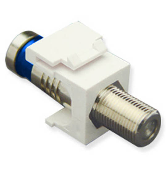Picture of ICC IC107FQGWH - MODULE, CRIMP, F-TYPE, RG6Q, WHITE
