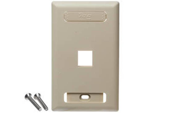 Picture of ICC IC107S01IV - FACEPLATE, ID, 1-GANG, 1-PORT, IVORY
